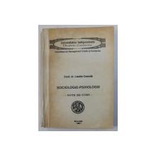 SOCIOLOGIE - PSIHOLOGIE - NOTE DE CURS de LISETTE COANDA , 1993