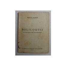 SOLILOQUII de MIRCEA ELIADE, 1932