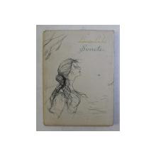 SONETE de LOUISE LABE , supracoperta de LIGIA MACOVEI , EDITIE BILINGAV FRANCEZA - ROMANA , 1957