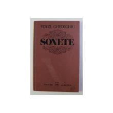 SONETE de VIRGIL GHEORGHIU , 1975 , DEDICATIE CATRE SERBAN MILCOVEANU *