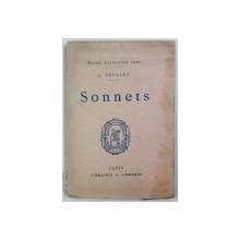 SONNETS par J. SOULARY , CARTE DE FORMAT  MIC , EDITIE INTERBELICA