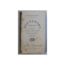 SOUVENIR D ' ENFANCE par I. TOURGUENEFF , EDITIE DE SFARSIT DE SECOL XIX
