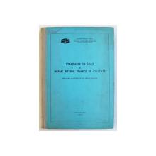 STANDARDE DE STAT SI NORME TEHNICE DE CALITATE  - BAUTURI ALCOOLICE  SI NEALCOOLICE , 1975
