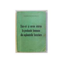 STAS-URI SI NORME INTERNE LA PRODUSELE LEMNOASE DIN EXPLOATARILE FORESTIERE , 1971
