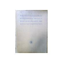 STATISTICA ANUALA A ROMANIEI PE ANUL 1922