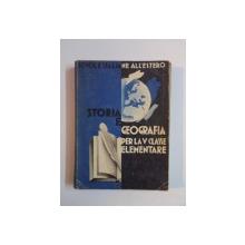STORIA E GEOGRAFIA PER LA V CLASSE ELEMENTARE  1939