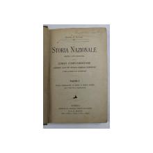 STORIA NAZIONALE PER IL CORSO COMPLEMENTARE , VOLUMELE I - III di GIUSEPPE A. SILVESTRI , 1897 , COLEGAT DE TREI CARTI *