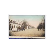 Strada Domneasca aproape de Gradina Publica. Galati - Carte postala ilustrata