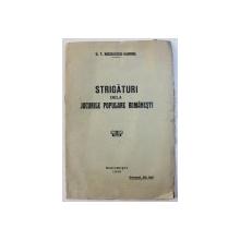 STRIGATURI DELA JOCURILE POPULARE ROMANESTI de G. T. NICULESCU - VARONE , 1936