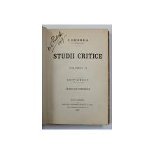 STUDII CRITICE , VOLUMUL II de I. GHEREA ' C. DOBROGEANU ' , EDITIA I* , 1891
