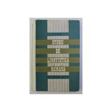 STUDII DE LINGVISTICA ROMANA de D . MACREA , 1970