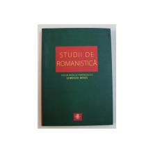 STUDII DE ROMANISTICA - VOLUM DEDICAT PROFESORULUI LORENZO RENZI de FELICIA - DELIA MARGA ...DANA FEURDEAN , EDITIE IN ROMANA - ITALIANA - ENGLEZA , 2007