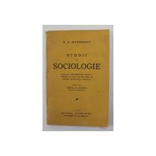STUDII DE SOCIOLOGIE de N.N. MATHEESCU , 1933