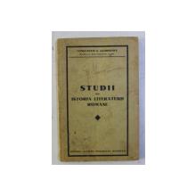 STUDII DIN ISTORIA LITERATURII ROMANE de CONST. G. GEORGESCU