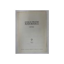 STUDII SI CERCETARI MATEMATICE - EXTRAS - NR. 9 , TOMUL 18 - TEOREMA DE SEPARARE A LUI JORDAN de ILIE PETRE IAMBOR , 1966 , DEDICATIE*