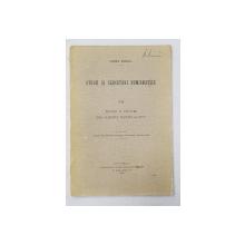 STUDII SI CERCETARI NUMISMATICE , VOLUMUL VII - MONETE SI PODOABE DELA SFARSITUL VEACULUI AL XV - LEA , 1916