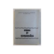 STUDII SI COMUNICARII , volum ingrijit de ILIE MOISE , 1980