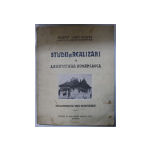 STUDII SI REALIZARI IN ARHITECTURA  ROMANEASCA - STATIE CIORTAN , CONTINE HALOURI DE APA