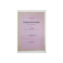 STUDIU ASUPRA INVATAMANTULUI ECONOMIC INDUSTRIAL de P. N. PANAITESCU - BUCURESTI, 1924