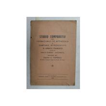 STUDIU COMPARATIV INTRE FORMATIUNILE DE INTENDENTA IN CAMPANIE INTREBUINTATE IN ARMATA FRANCEZA SI CELE DIN ARMATA ROMANA  - INVATAMINTE de CAPITAN D. POPESCU , 1931 , DEDICATIE *