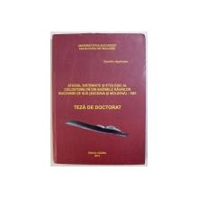 STUDIUL SISTEMATIC SI ETNOLOGIC AL CICLOSTOMILOR DIN BAZINELE RAURILOR BUCOVINEI DE SUD ( SUCEAVA SI MOLDOVA) - 1981, TEZA DE DOCTORAT de DUMITRU APETROAIE , 2013