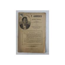 T. CODRESCU  - REVISTA ISTORICA scrisa de GH. GHIBANESCU , ANUL 1 , NR. 10   , 1 IULIE   1916
