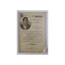 T. CODRESCU  - REVISTA ISTORICA scrisa de GH. GHIBANESCU , ANUL 1 , NR. 3  , 1 DECEMBRIE  1915