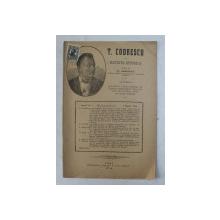 T. CODRESCU  - REVISTA ISTORICA scrisa de GH. GHIBANESCU , ANUL 1 , NR. 6  , 1 MARTIE  1916