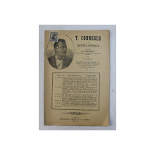 T. CODRESCU  - REVISTA ISTORICA scrisa de GH. GHIBANESCU , ANUL 1 , NR. 7  , 1 APRILIE  1916