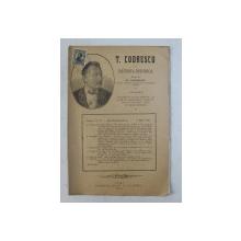 T. CODRESCU  - REVISTA ISTORICA scrisa de GH. GHIBANESCU , ANUL 1 , NR. 8  , 1 MAI   1916