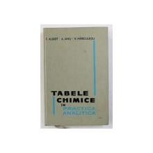 TABELE CHIMICE IN PRACTICA ANALITICA de F . ALBERT ...V . MARCULETIU , 1965