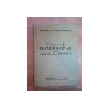 TABELE DE CUBAJ SI SORTARE PENTRU ARBORI SI ARBORETE de I. MILESCU ... R. DISSESCU , 1960