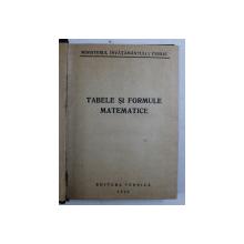 TABELE SI FORMULE MATEMATICE , 1950