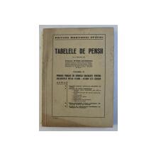 TABELELE DE PENSII , VOLUMUL III , cu o prefata de EFTIMIE ANTONESCU , 1943