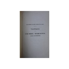 TACTIQUE par GUICHARD , COLEGAT DE TREI CARTI , 1876- 1877