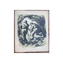 Tania Baillayre (1916-1991) - Mineri, Litografie