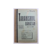 TARANISMUL BANATAN  - REVISTA POLITICA , ECONOMICA , SOCIALA  - APARE BILUNAR , ANUL I -  No. I , 1 OCTOMBRIE ,  1935