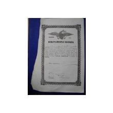 Targoviste, Departamentul Vistieriei Patent negustor Radu C, 1856