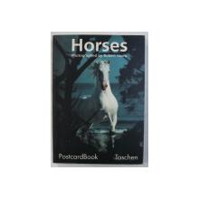 TASCHEN - POSTCARDBOOK , HORSES , PHOTOGRAPHED by ROBERT VAVRA , 1993