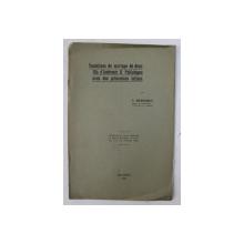 TENTATIVES DE MARIAGE DE DEUX FILS D'ANDRONIC II PALEOLOGUE AVEC DES PRINCESSES LATINES par C. MARINESCU , 1924