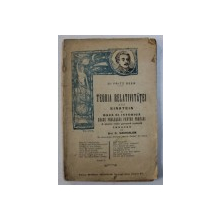 TEORIA RELATIVITATII A LUI EINSTEIN SI BAZA EI ISTORICA de FRITZ BEER , 1920