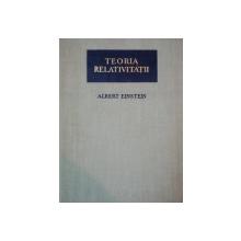 TEORIA RELATIVITATII de  ALBERT EINSTEIN 1957