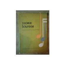TEORIE SI SOLFEGII ,manual  pentru clasa a VII a de MATEI JUREBITA , 1971
