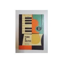 TEORIE SI SOLFEGII , MANUAL PENTRU CLASA A X A , 1966