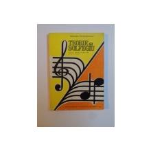 TEORIE SI SOLFEGIU , MANUAL PENTRU CLASA A X A LICEE DE MUZICA de VICTOR GIULEANU , Bucuresti 1995