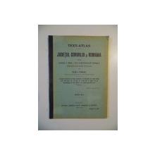 TEXT-ATLAS , JUDETUL COVURLUI SI ROMANIA PENTRU DIVIZIA II, ANUL I SI II, A SCOALELOR RURALE (CONFORM PROGRAMEI OFICIALE) de IOAN I. PRALEA, EDITIA A III-A  1914-1915
