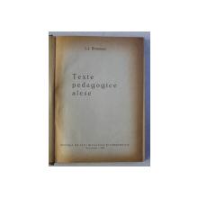 TEXTE PEDAGOGICE ALESE de J.J. ROUSSEAU  1960