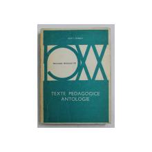 TEXTE PEDAGOGICE - ANTOLOGIE de IOSIF I. GABREA , 1980