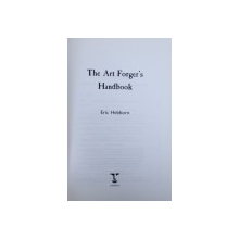 THE ART FORGER ' S HANDBOOJ by ERIC HEBBRON , 1997