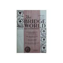 THE BRIDGE WORLD , edited by ELY CULBERTSON , COLECTIA REVISTEI PE ANUL 1936